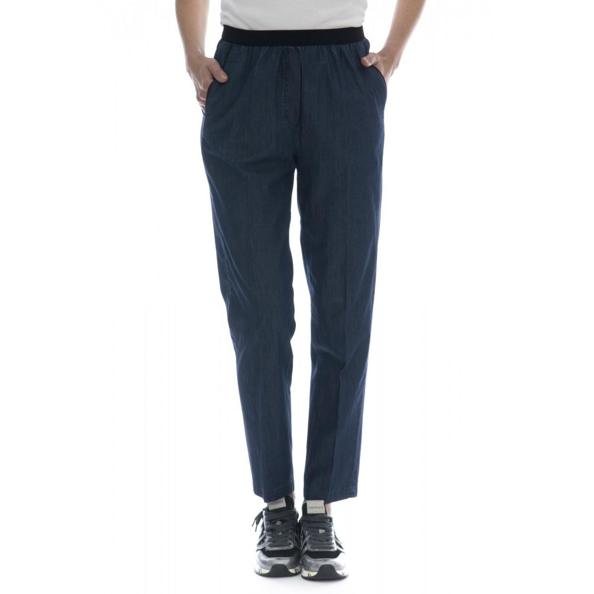 Pantalone donna - 4044 pantalone denim con elastico