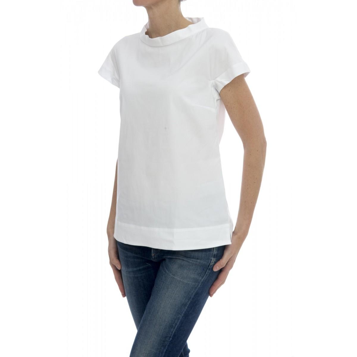 Camicia manica corta donna - Rnr d43 camicia zip retro