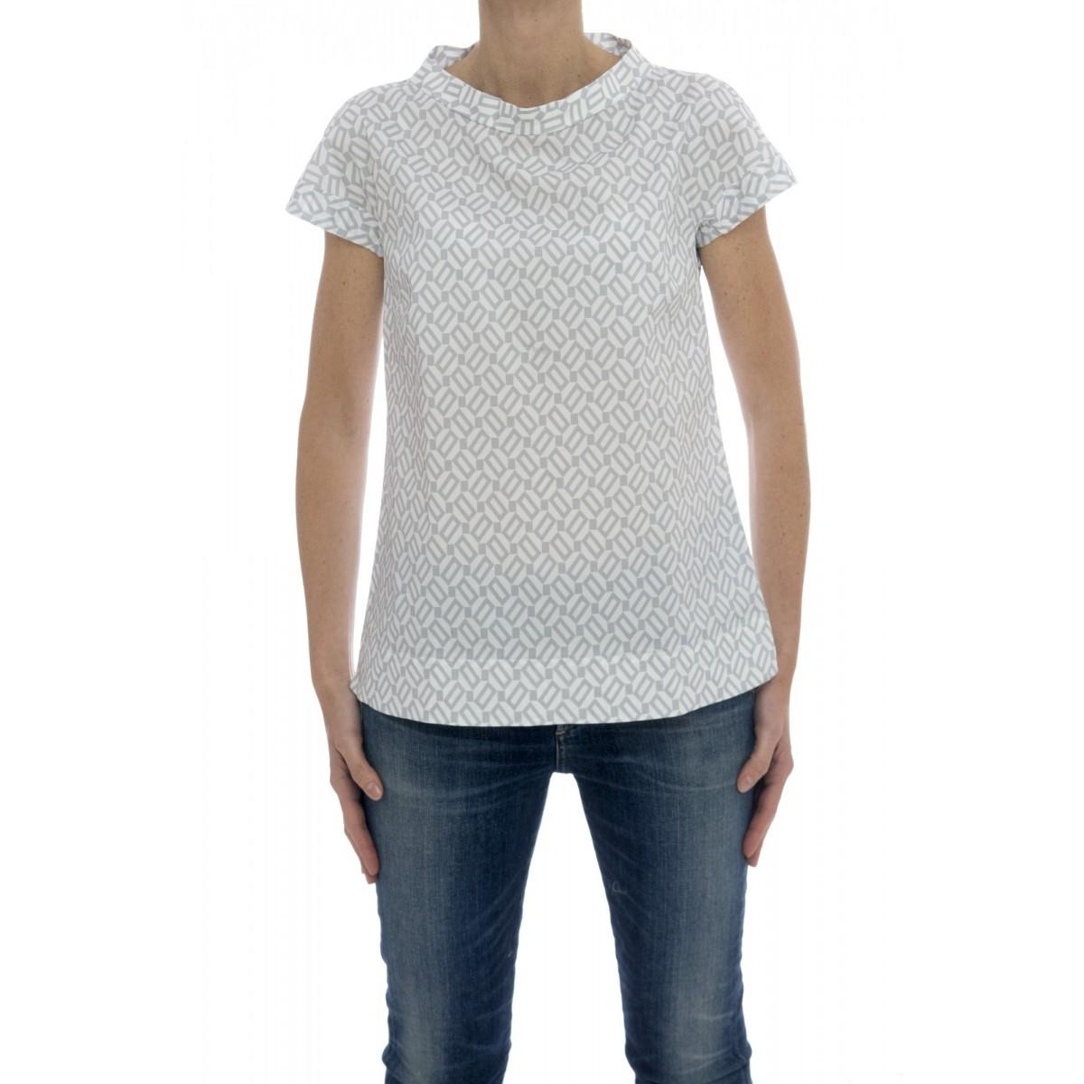 Camicia manica corta donna - Rnr zk2 camicia zip retro