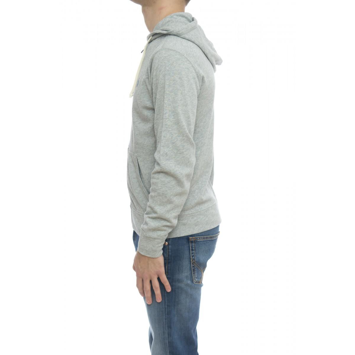 Felpa uomo - 706348 felpa aperta cappuccio leggera