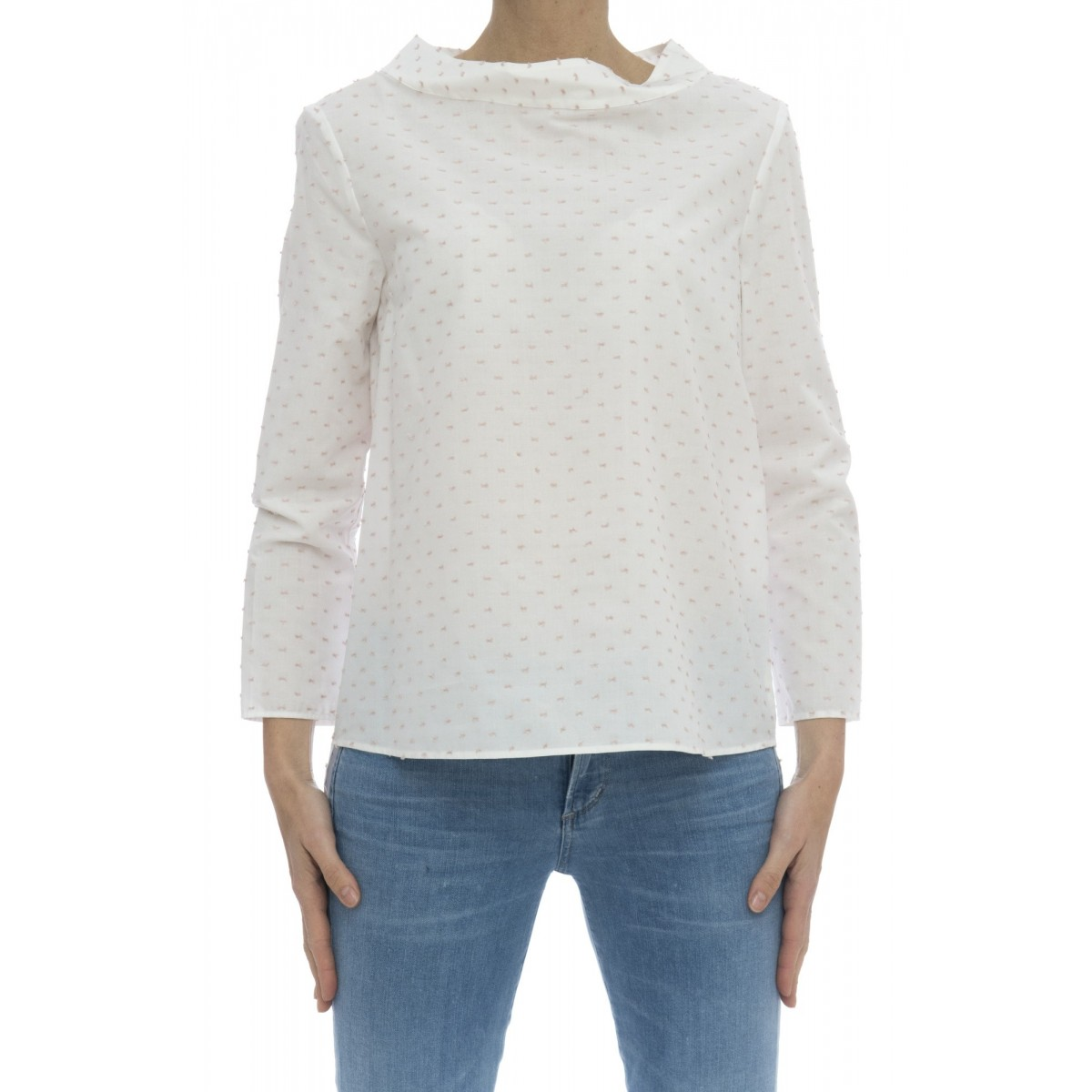 Camicia donna - Clara 85407 cotone plumeties