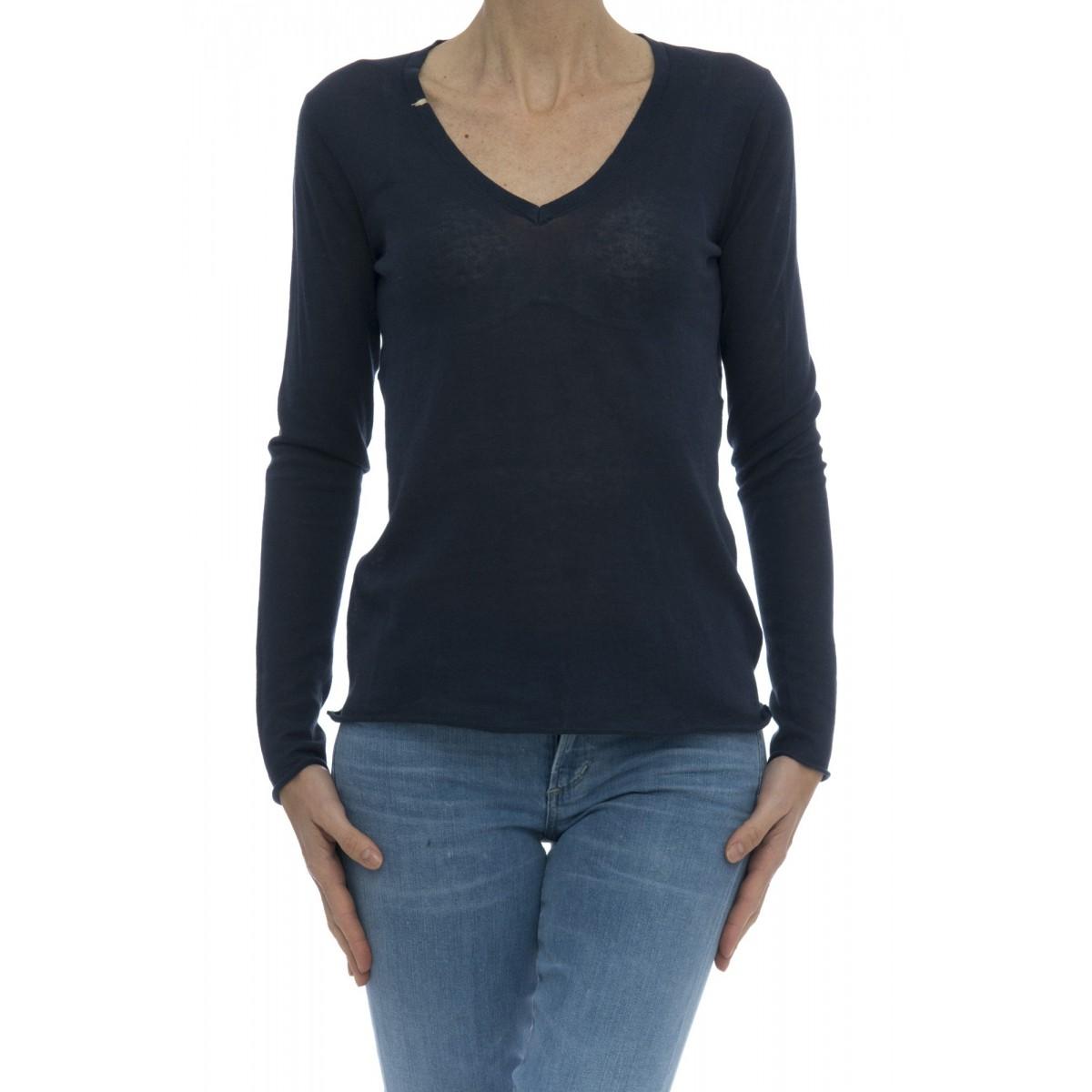 Maglia donna - 17260 maglia sottile scollo v