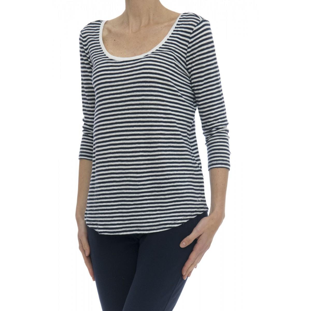 T-shirt - 17236 t-shirt manica lunga lino