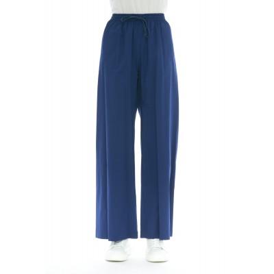 Pantalone donna - 216 t01 pantalone strech coulisse largo