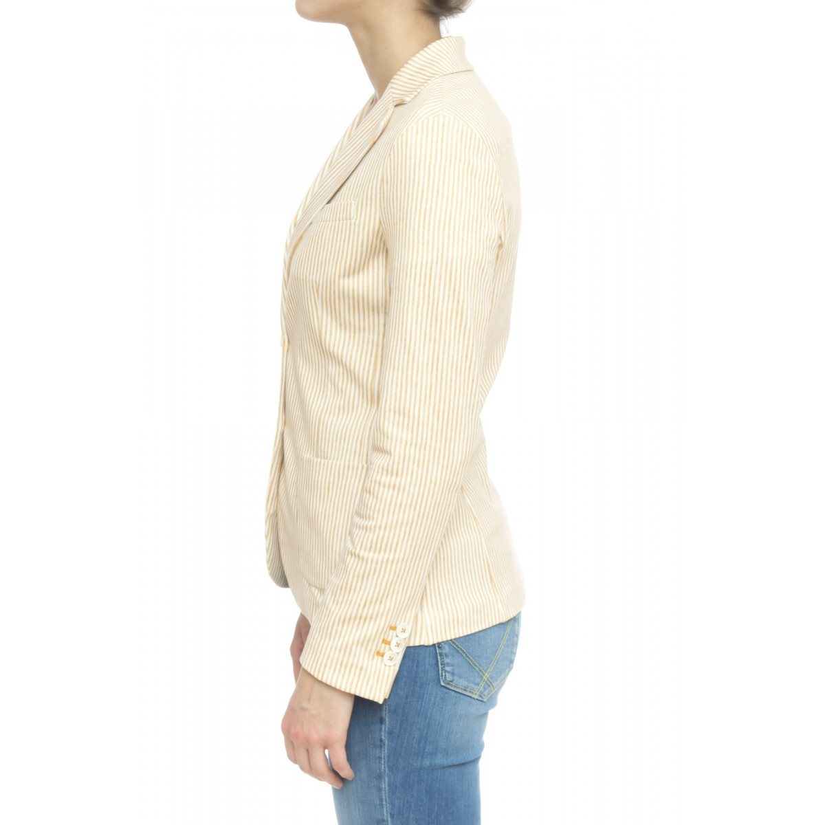 Giacca donna - Fd1556 giacca jersey stampata riga