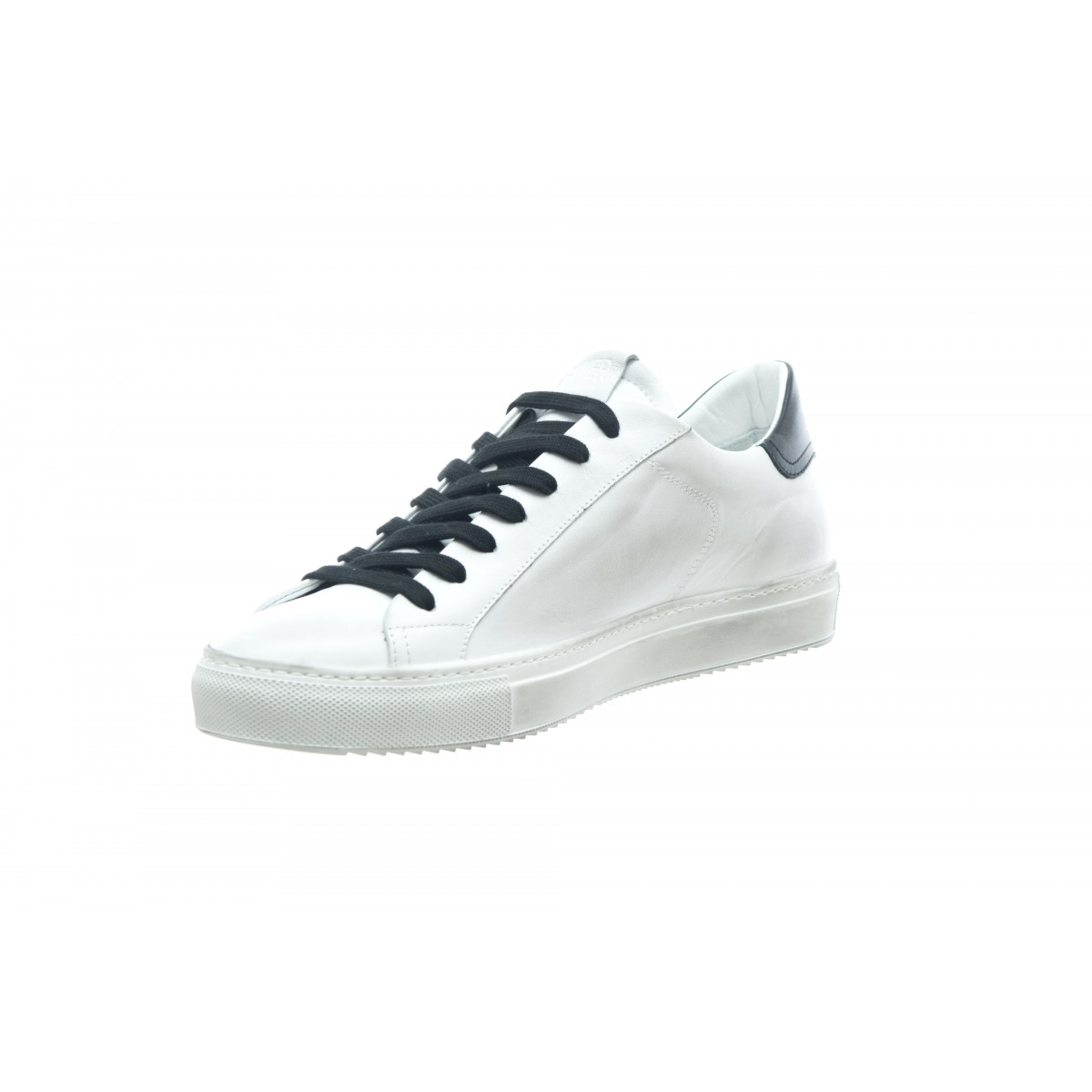 Scarpa - Sneakers tennis a pelle made in italy