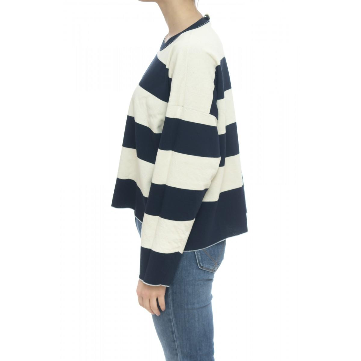 Maglieria - C25001 maglia reversibile riga lurex