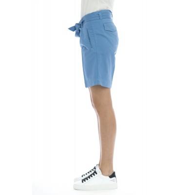 Bermuda donna - Coralbe 5248 vita alta cintura