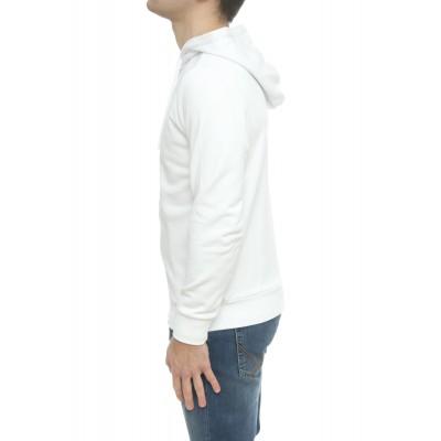 Felpa uomo - F30101 felpa zip cappuccio