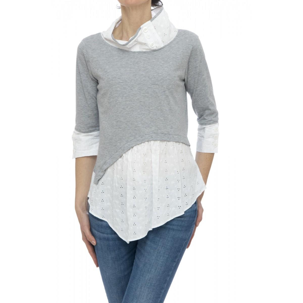 Camicia donna - Francy 85903 doppio tessuto san gallo