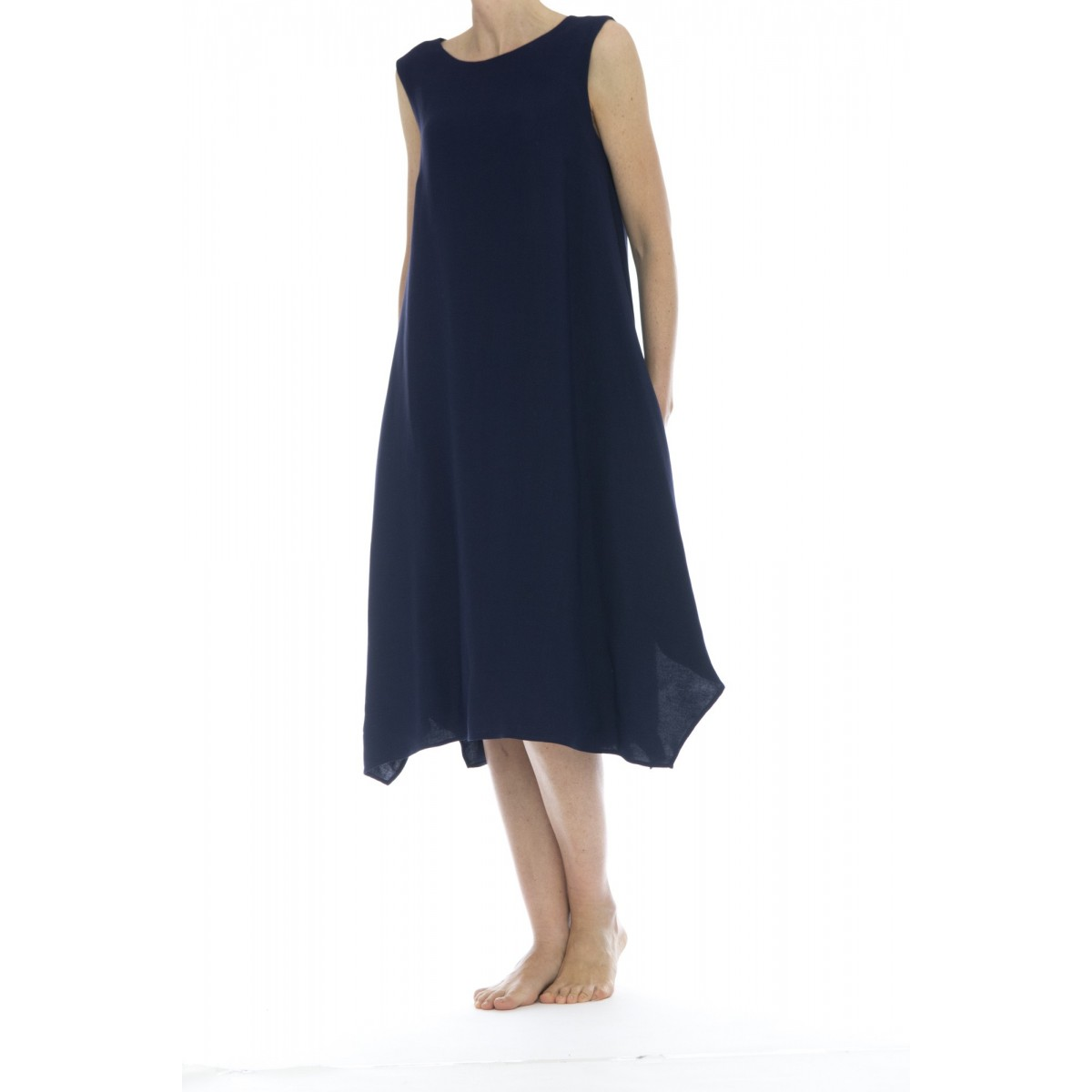 Vestito lungo donna - Rz6 zmn vestito lino viscosa