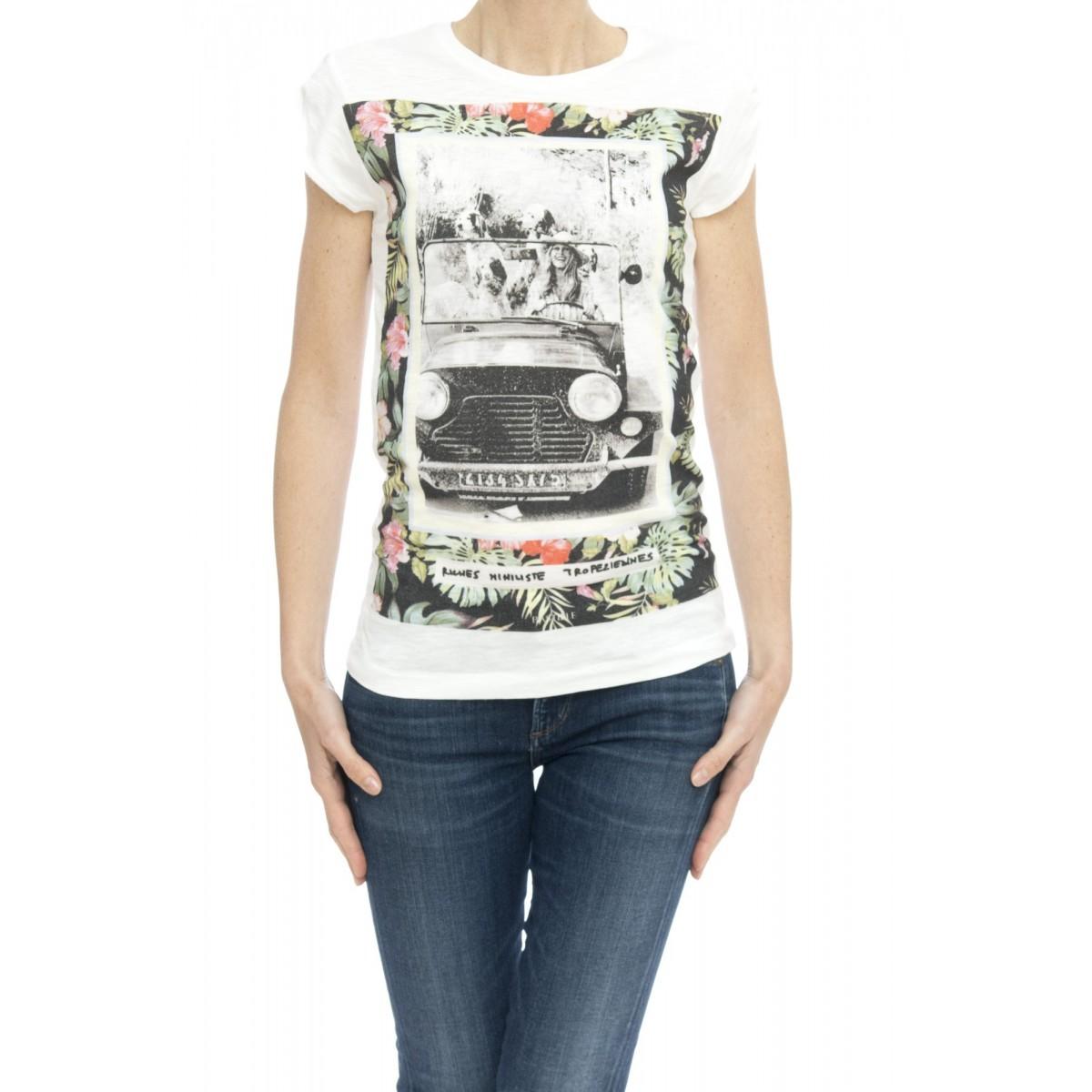 T-shirt - Slub t-shirt stampa