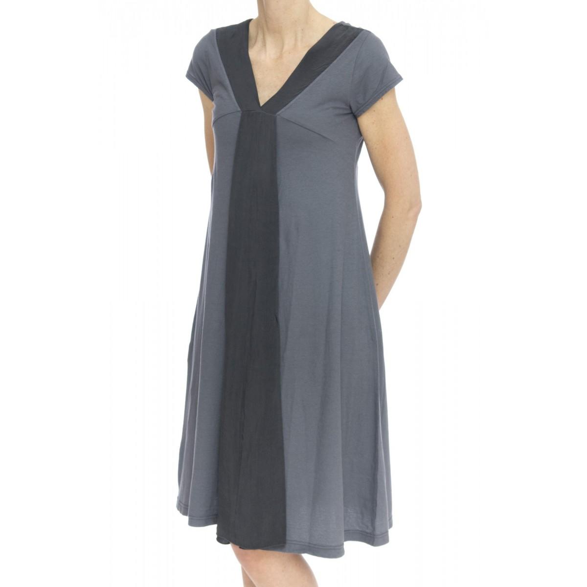 Vestito - 17513 abito jersey + raso