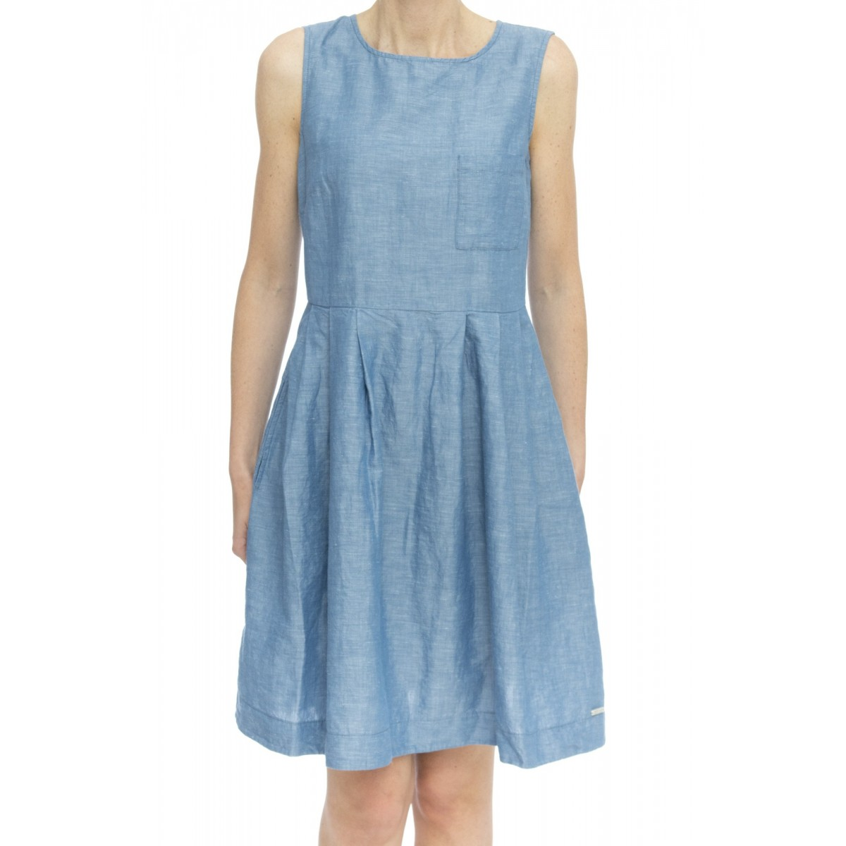 Vestito - Abi0372 abito lino-cotone