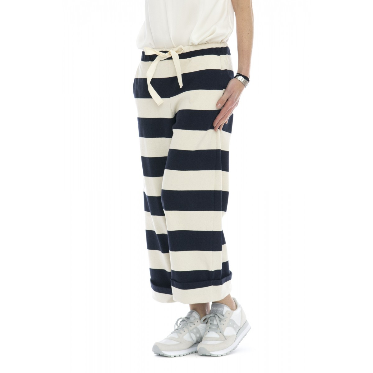 Pantalone donna - 145151 pantalone righe