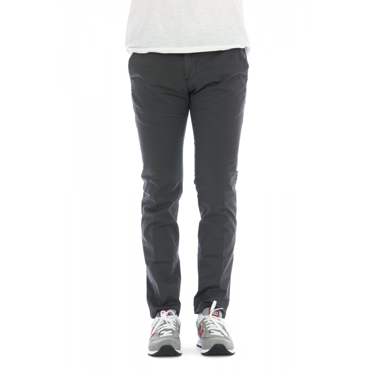 Pantalone uomo - M08l pantalone slim cotone raso