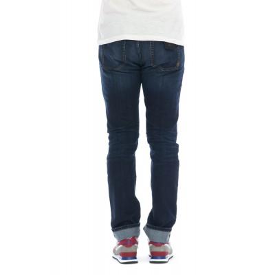 Jeans - C646l4  ku07 jeans slim strech kurabo giapponese