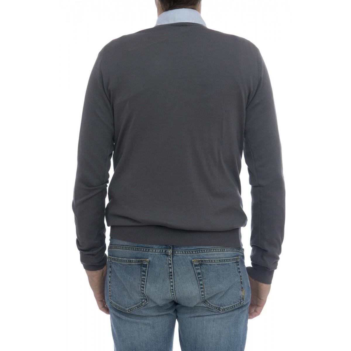 Maglia uomo - 3004/01 maglia cotone seta senza toppa