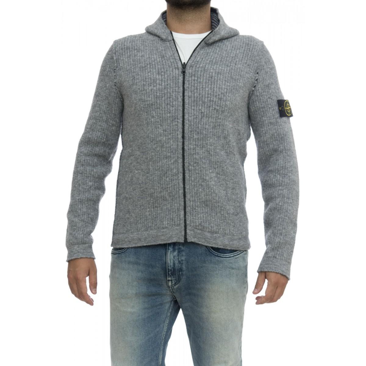 Maglia uomo - 578 maglia cappuccio reversibile 34% lana, 34% poliamide, 22% acrilica, 8% alpaca