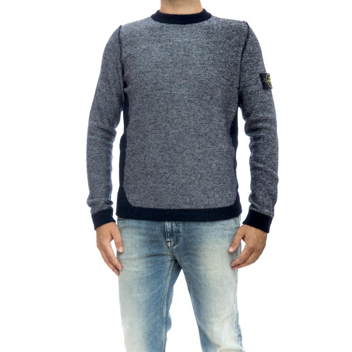 Maglia uomo - 512b1 maglia giro color block: 57% lana, 22% poliamide, 14% acrilica, 5% alpaca