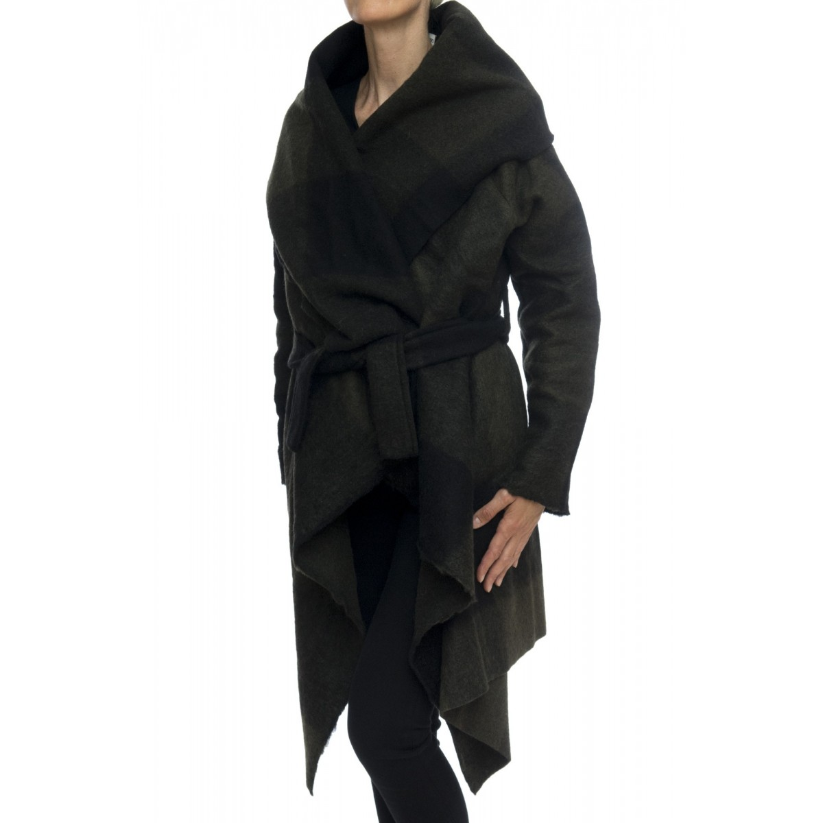 Cappotto - Cappa lana check