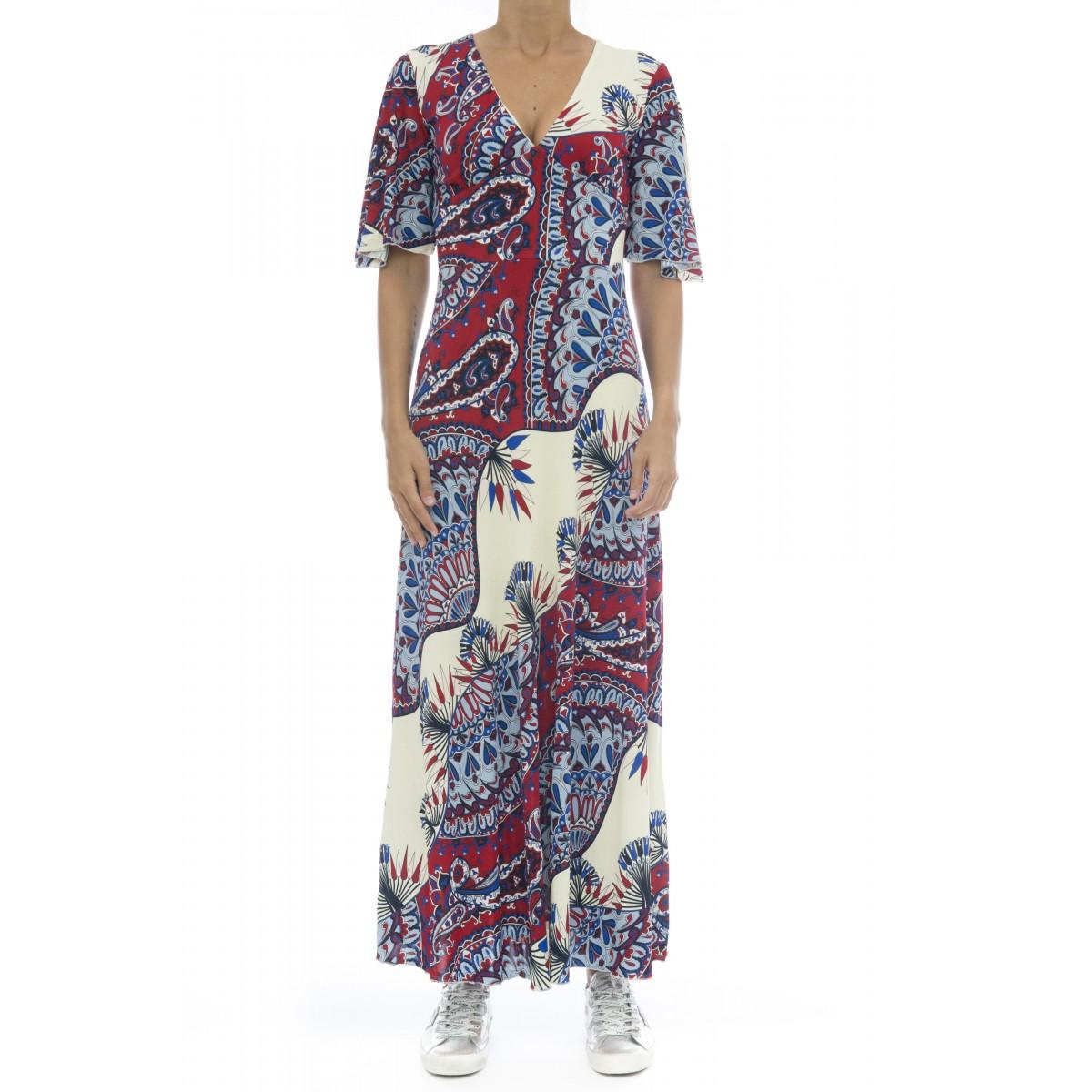 Vestito - J7043 vestito stampa lungo