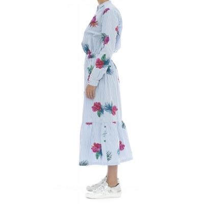 Vestito - S30206 vestito lungo rigato