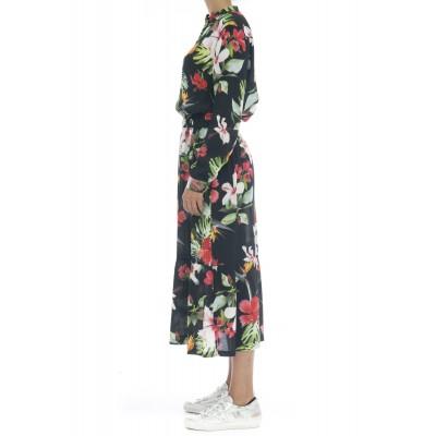 Vestito - S30206 vestito lungo fiori