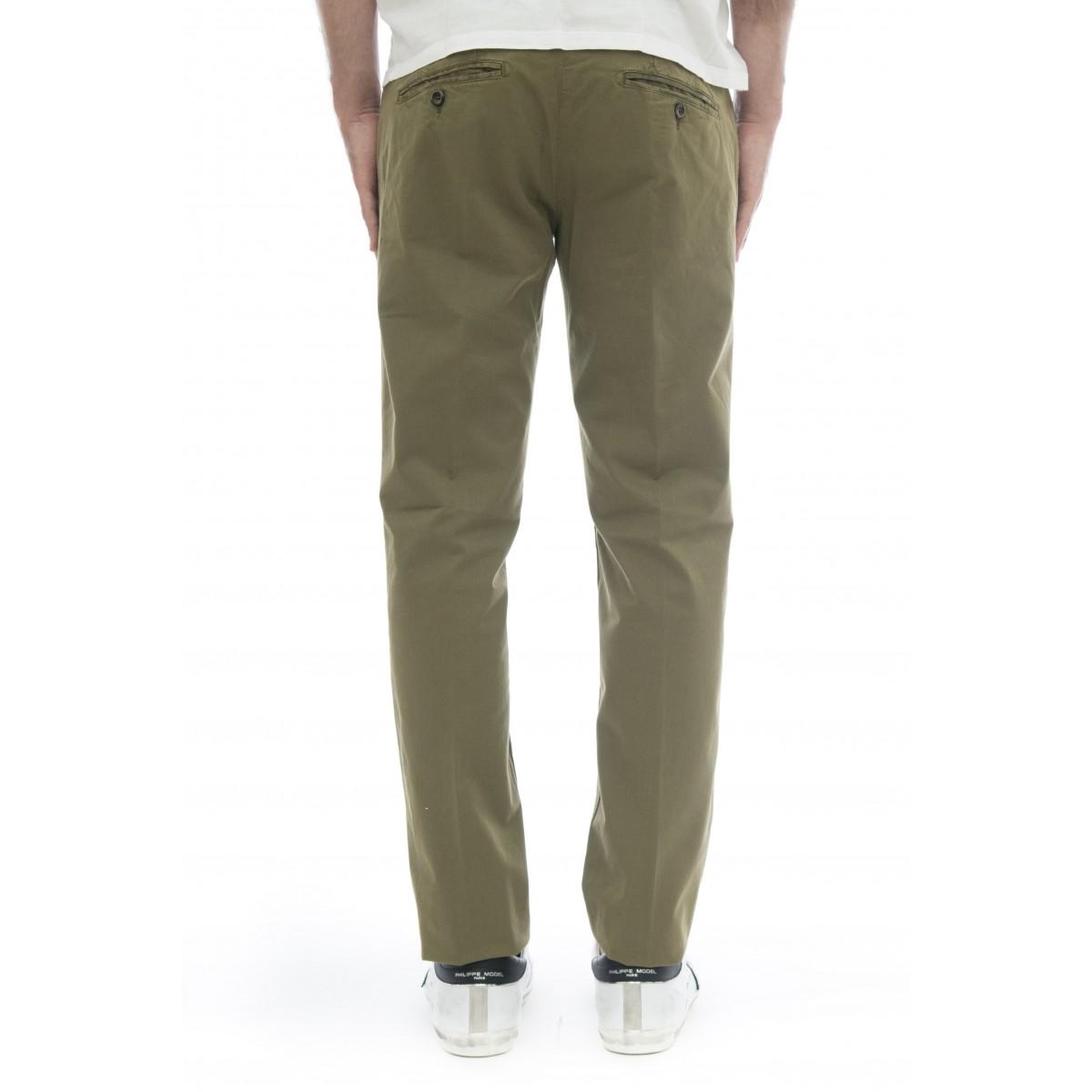 Pantalone uomo - 08l 83 gabardina tinta capo slim strech