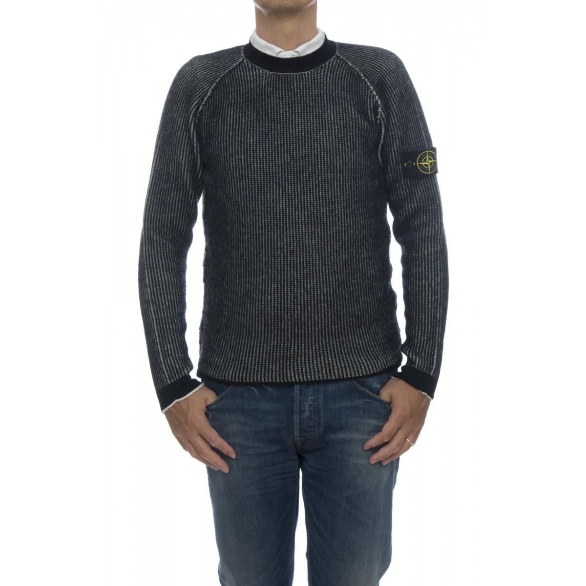 Men Sweater - 580D1 reversible 34% wool, 34% polyamid, 22% acrilyc, 8% alpaca