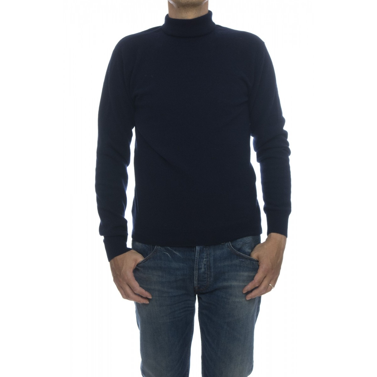 Maglia - Rb05 maglia collo alto cashmeire ricilato