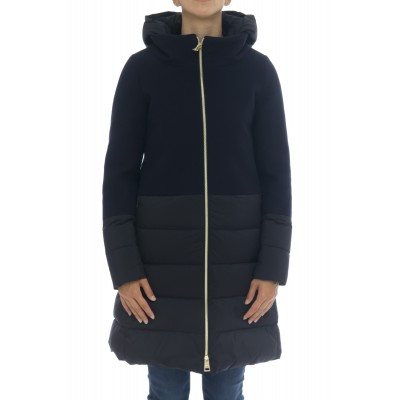 Woman Down jacket - PI0848D 39601 diagonal wool  + nuoage Made in Italy