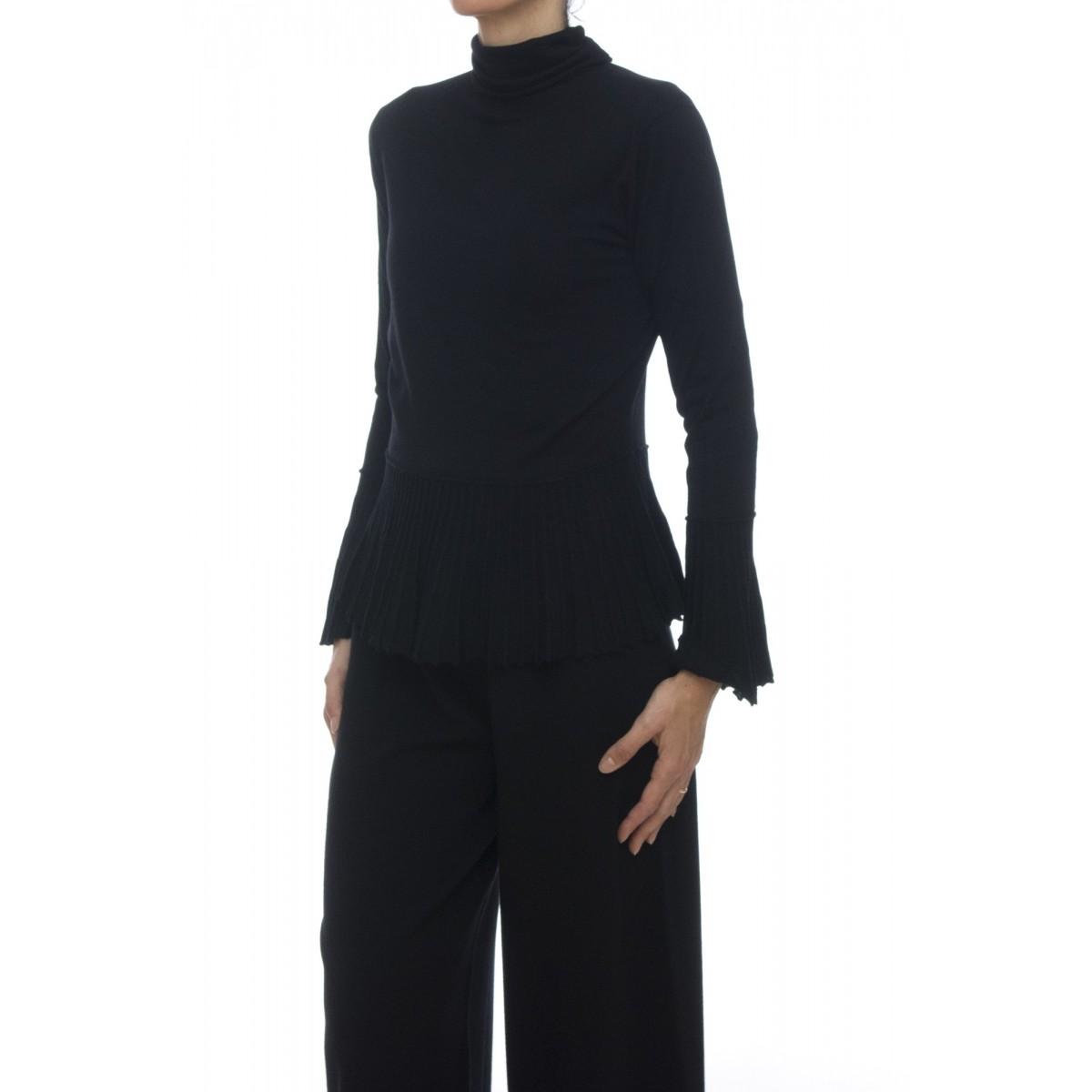Maglia - 4535/05 maglia plisse collo alto