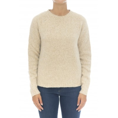 Maglieria - D11001 maglia giro cotone alpaca