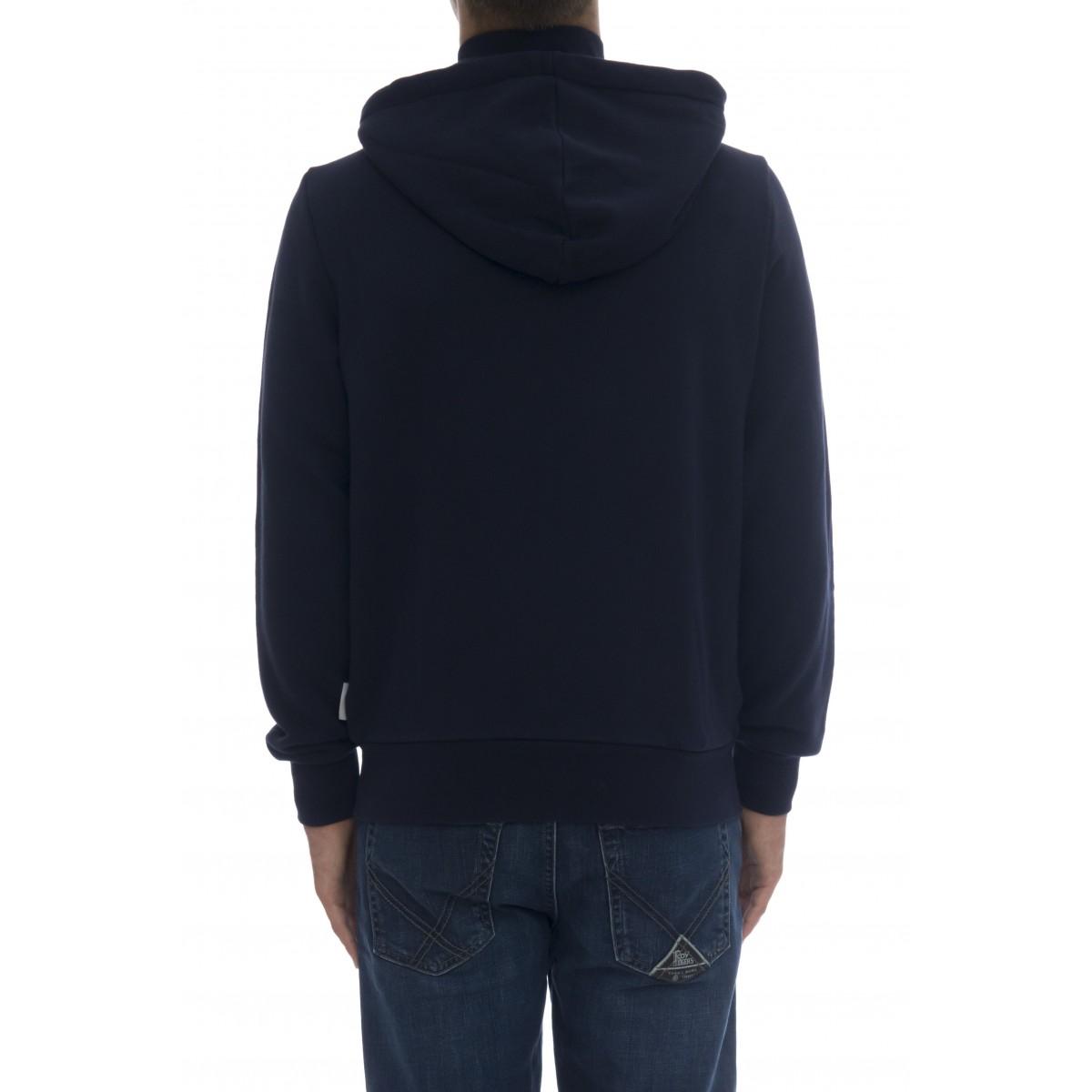 Felpa uomo - F40102 felpa con cappuccio