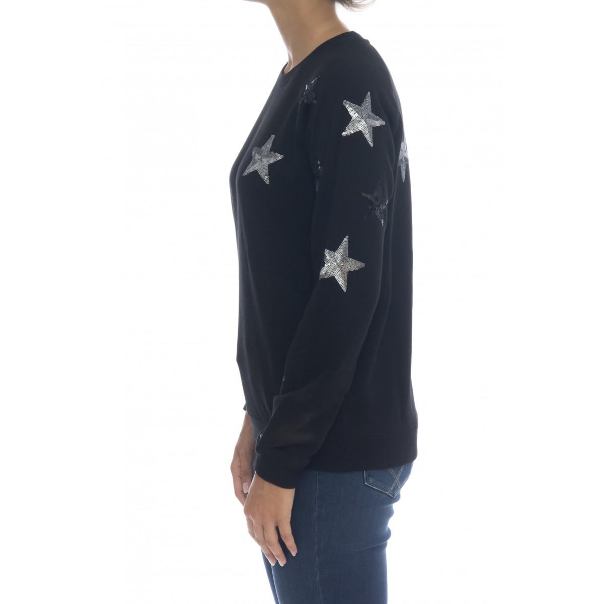 Felpa donna - F40207 felpe stelle