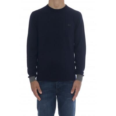 Maglia uomo - K40137  maglia giro toppa