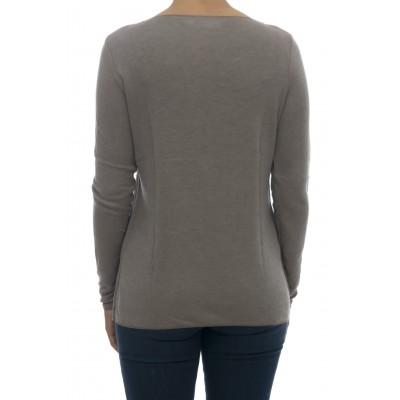 T-shirt donna - 1342 t-shirt collo barca 35% modal 15% lana 50% viscosa italy