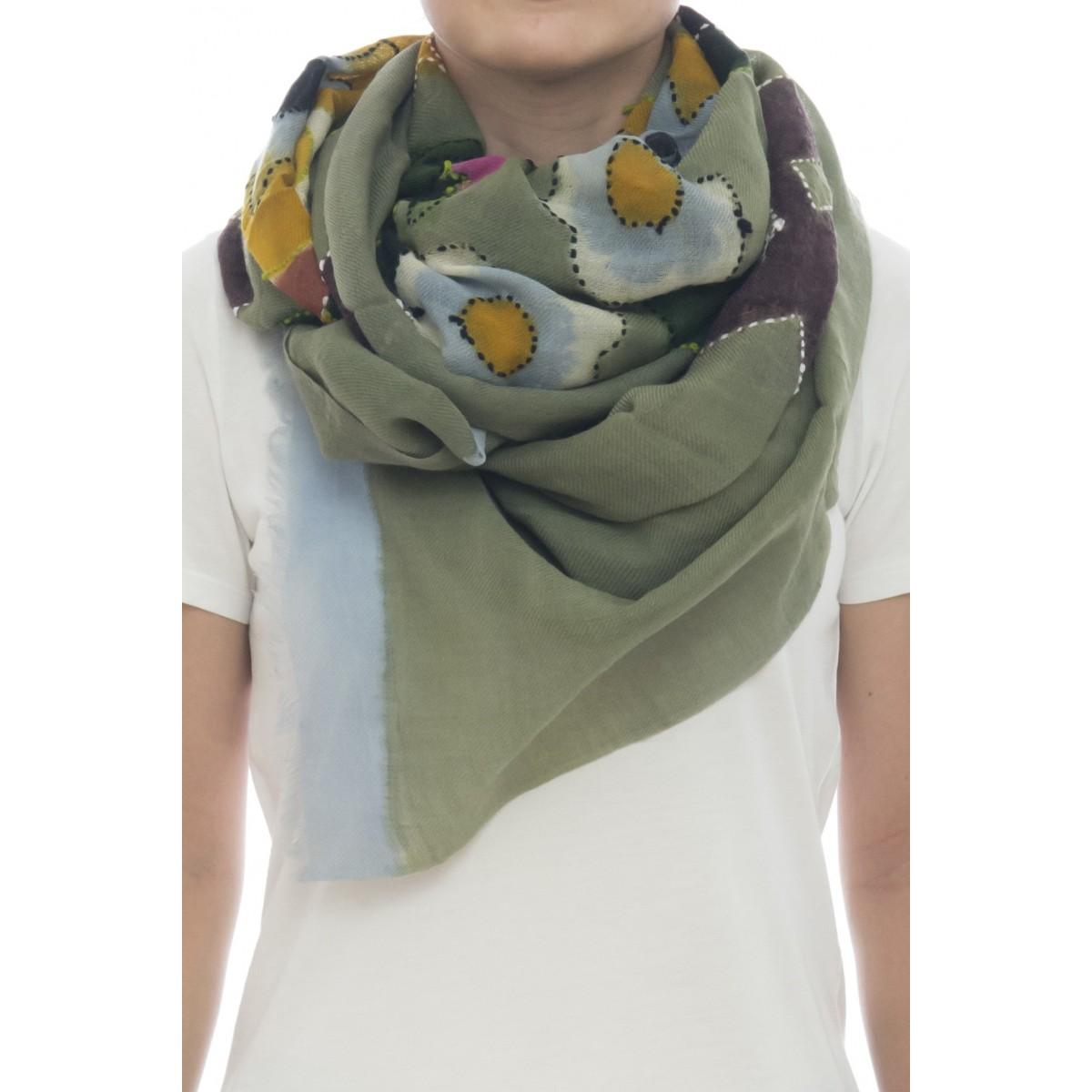 Sciarpa - Giglio 7210  100 x 200   100% lana dipinta a mano