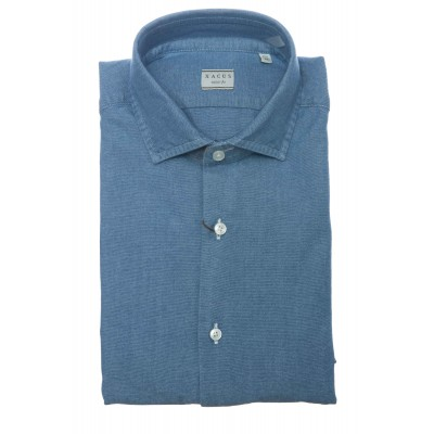 Camicia uomo - 748 71179 camicia indaco oxford
