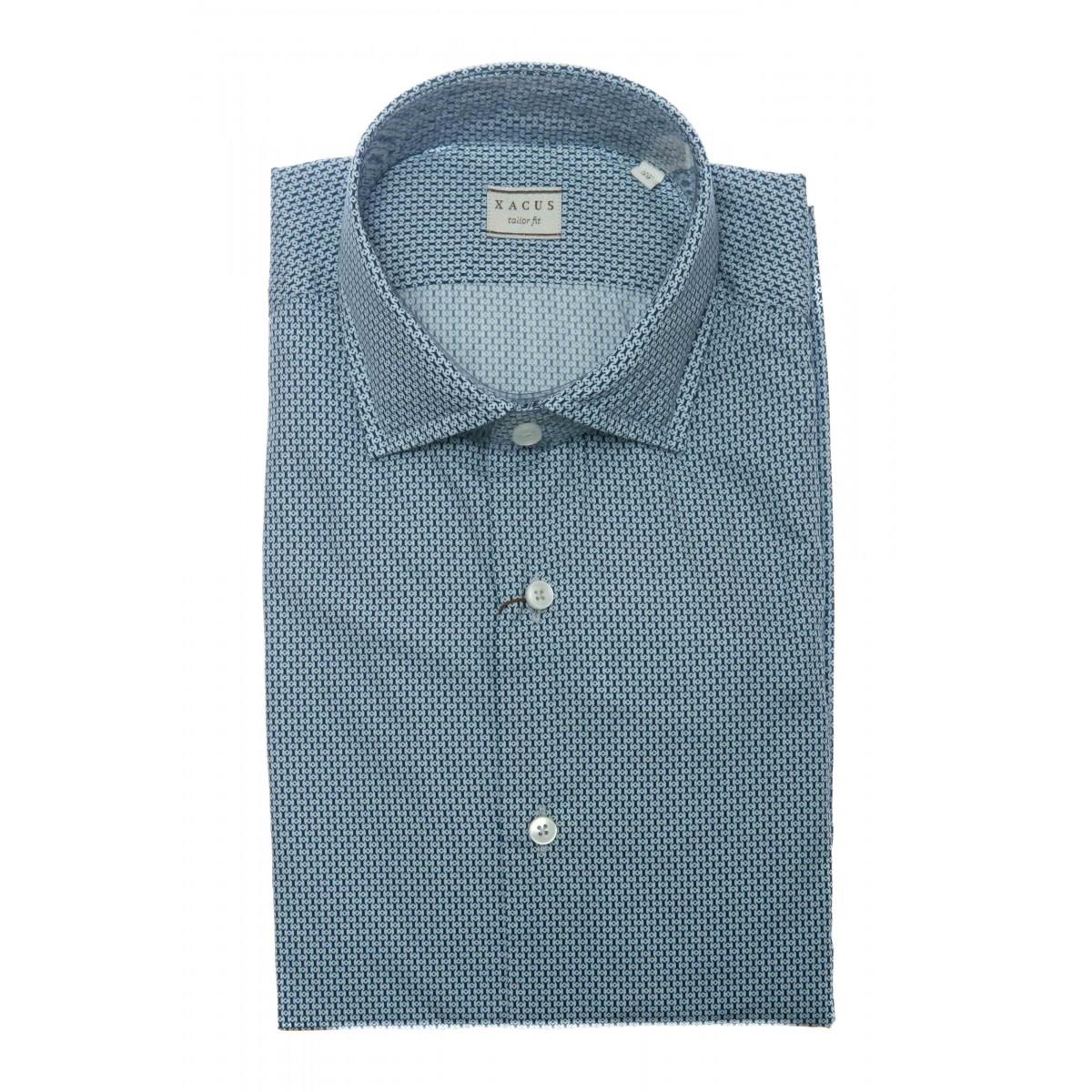 Camicia uomo - 748 71515 camicia popeline stampa lavata