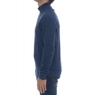 Maglia uomo - 701611 maglia mezza zip nido ape