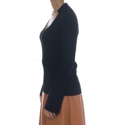 Maglia uomo - J1027 maglia coste con colletto