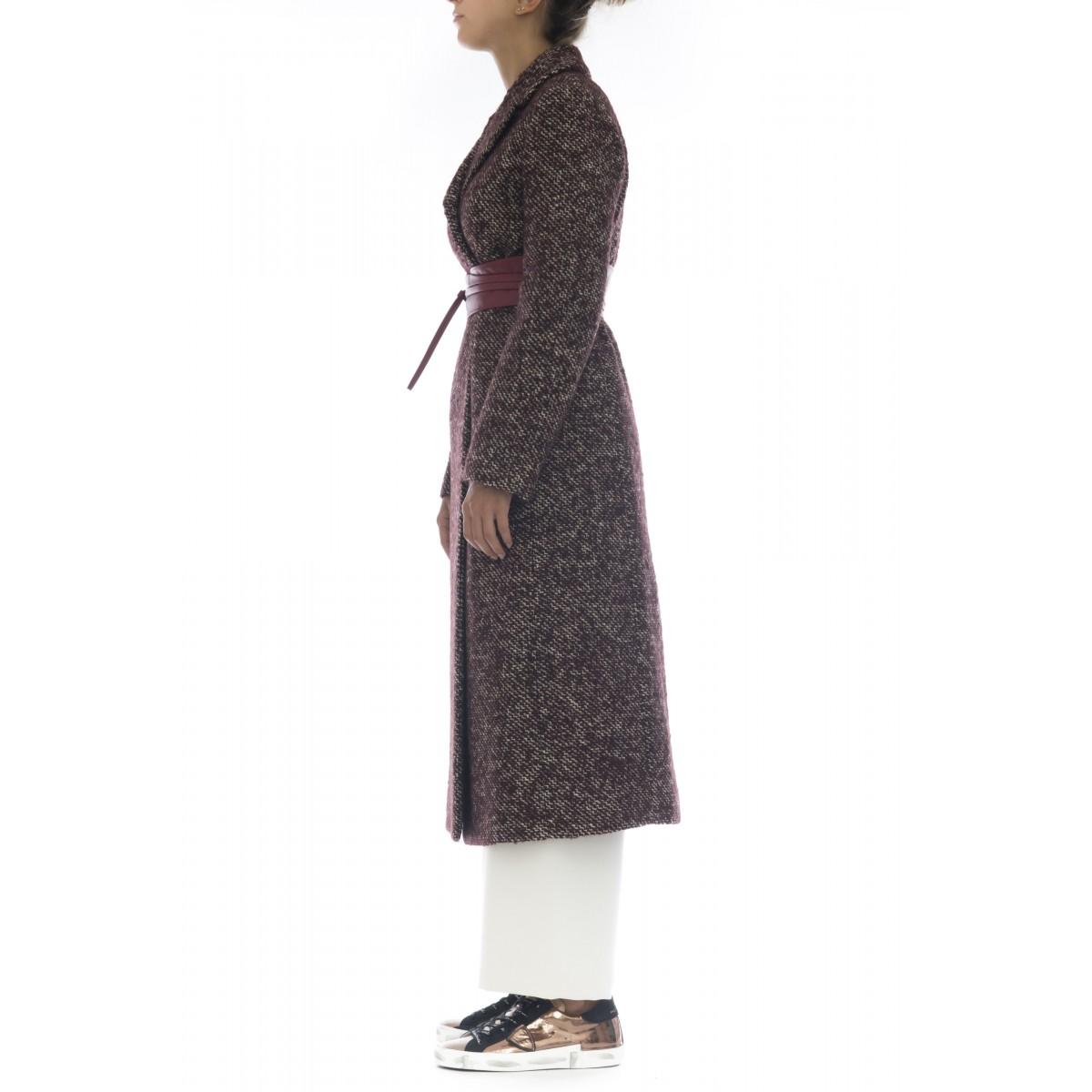 Cappotto - 306t22 cappotto piu cintura tweed lana