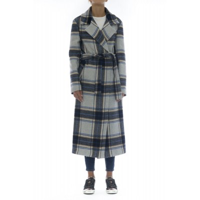 Cappotto - Cardin cappotto cintura quadri