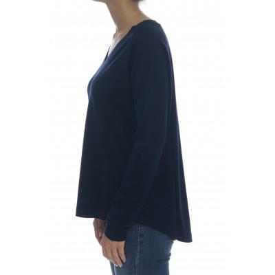 Maglieria - 2202 maglia over v 70% seta 305 cashmeire italy