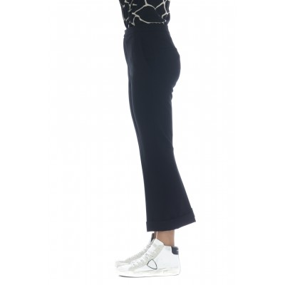 Pantalone donna - J4000 pantalone trombetta risvolto