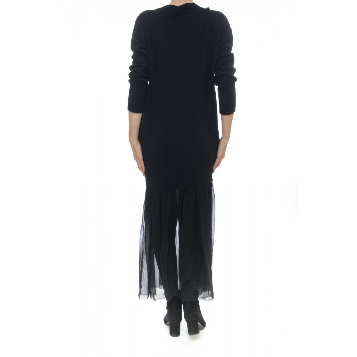 Vestito - J1027 vestito lungo con seta