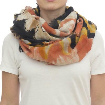 Sciarpa - Giglio 7036  105 x 190  dipinta amano 100% wool