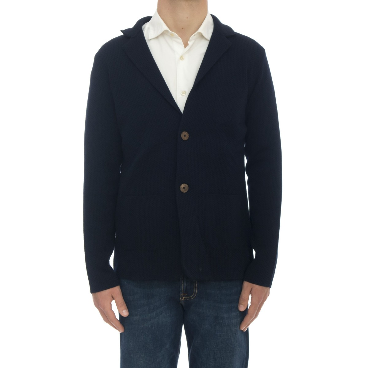 Giacca uomo - M/815 giacca lavoarata blu